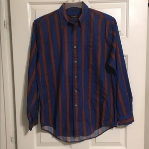 Vtg Christian Dior Mens L/S Button Up Shirt Sz M
